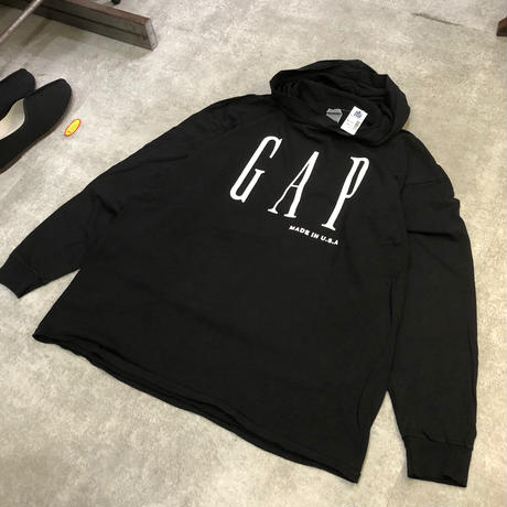 "90's deadstock ""GAP"" long sleeve tee hood"