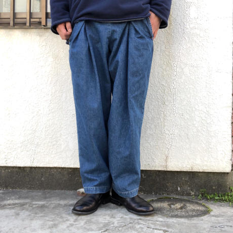 "RELAXFIT by supermarket  ""NPIP""  - used denim-"