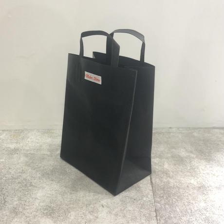 """""""紙袋のような革袋"""" slider ver. スタバ袋(B5型)「black 」"""