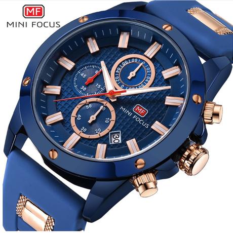d97942fdaa MINIFOCUS 高級腕時計 メンズ腕時計 防水 クォーツ レザー
