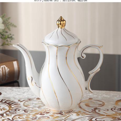 ヨーロッパゴールド象眼骨中国コーヒーセット英国磁器茶セット ポット単品