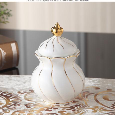 ヨーロッパゴールド象眼骨中国コーヒーセット英国磁器茶セット 砂糖入れ単品