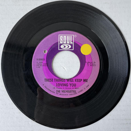 THE VELVELETTES / These Things Will Keep Me Loving You