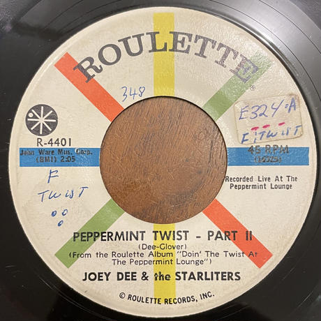 JOEY DEE & THE STARLITERS / Peppermint Twist Part 1