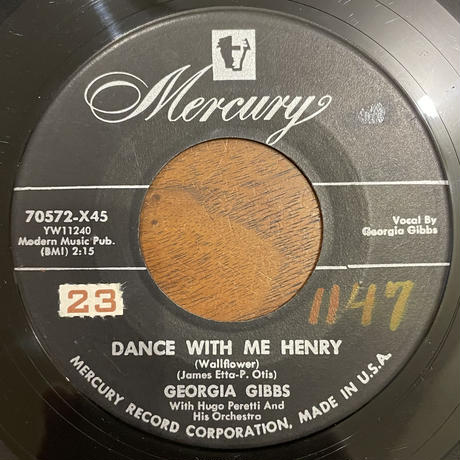 GEORGIA GIBBS / Dance With Me Henry