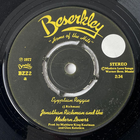 JONATHAN RICHMAN AND THE MODERN LOVERS / Egyptian Reggae