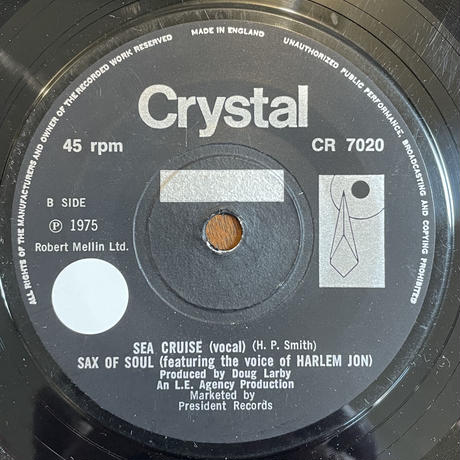 SAX OF SOUL (feat. The Voice Of Harlem Jon) / Sea Cruise