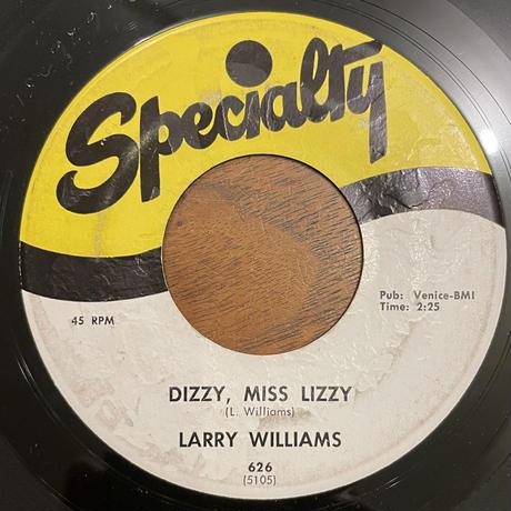 LARRY WILLIAMS / Dizzy, Miss, Lizzy