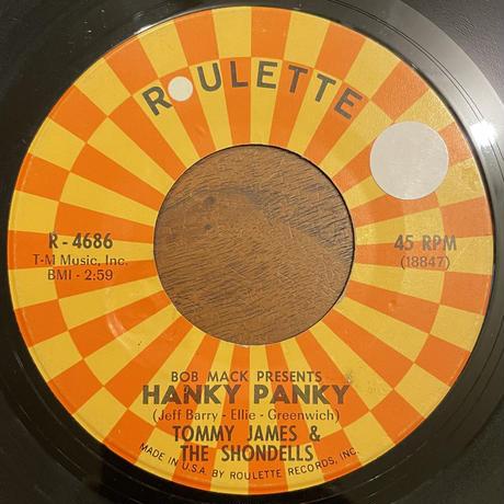 TOMMY JAMES & THE SHONDELLS / Hanky Panky