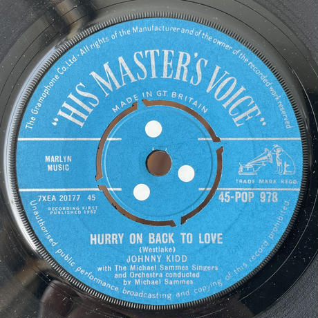 JOHNNY KIDD / Hurry On Back To Love