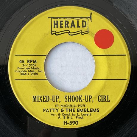 PATTY & THE EMBLEMS / Mixed-Up, Shook-Up Girl