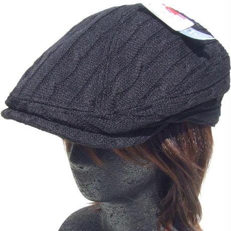 シューリン ニット ハンチング ケーブル編み ブラック