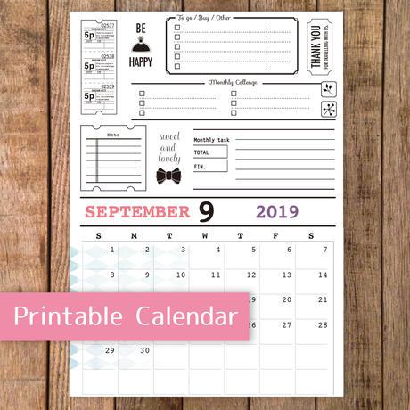 【PDF】2019年9月カレンダー