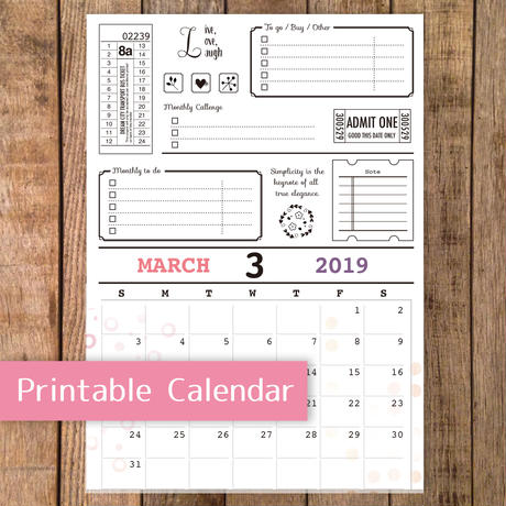 【PDF】2019年3月カレンダー