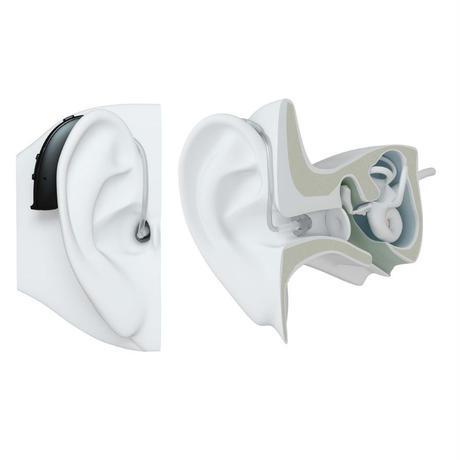 【ご自宅試聴】イヤフォン気分で装着!≪充電式≫耳かけ型補聴器