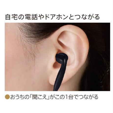 【ご自宅試聴】電話の声が聞きとりやすい!≪充電式≫耳ポケット型補聴器(200513516)