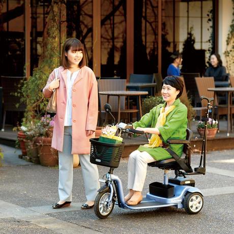 【ご自宅試乗】小回りしやすい!三輪型 電動シニアカーS638スマートパル ライト(軽量タイプ)036888100