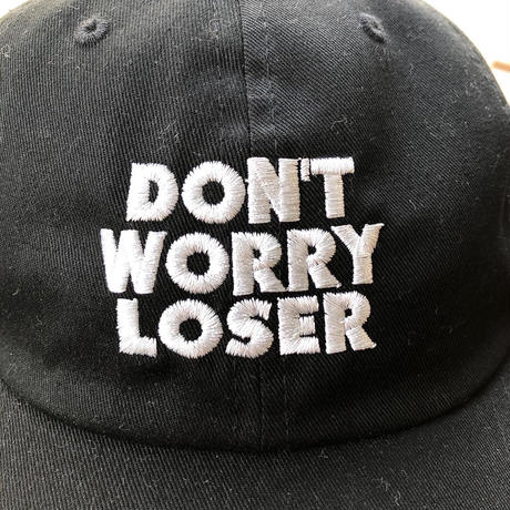 "DON'T WORRY LOSER:""LOGO CAP"" (BLACK,BEIGE)"