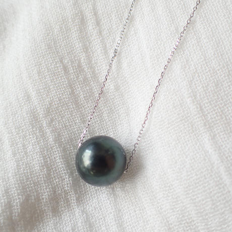 【SALE】SILVER925 tahitian pearl necklace 1