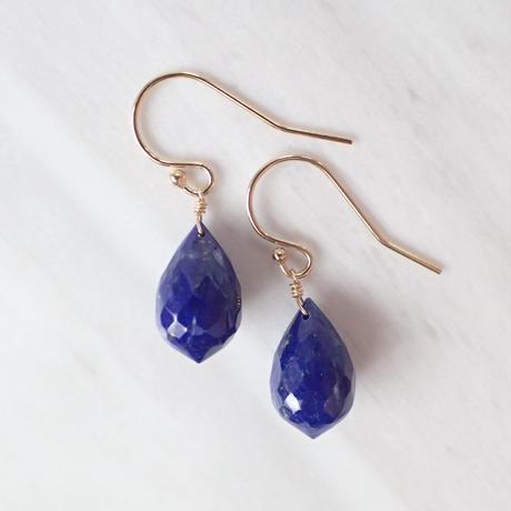 K14GF lapis lazuli pierce