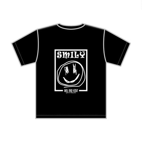 SMILY GRAFFIC Tee S/S ADULT-BLACK