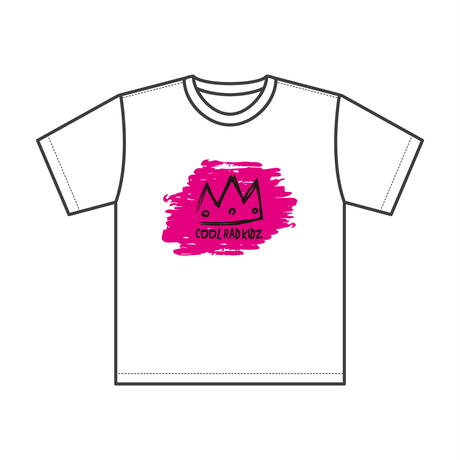 CROWN Tee S/S KIDZ-WHITE/PINK