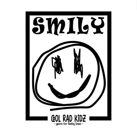 SMILY GRAFFIC Tee S/S ADULT-RED