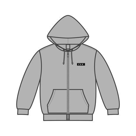 Basic Zip Hoodie L/S KIDZ-GRAY