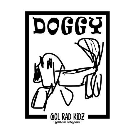 DOGGY GRAFFIC Tee S/S ADULT-BLACK