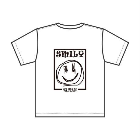 SMILY GRAFFIC Tee S/S KIDZ-WHITE