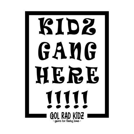KIDZ GANG Tee S/S KIDZ-BALCK