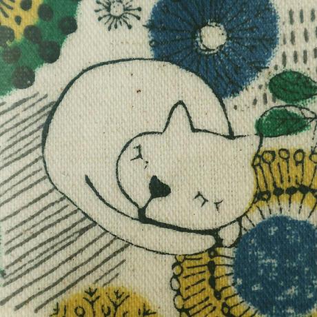 マチ付きバッグ・お昼寝猫(02-293)