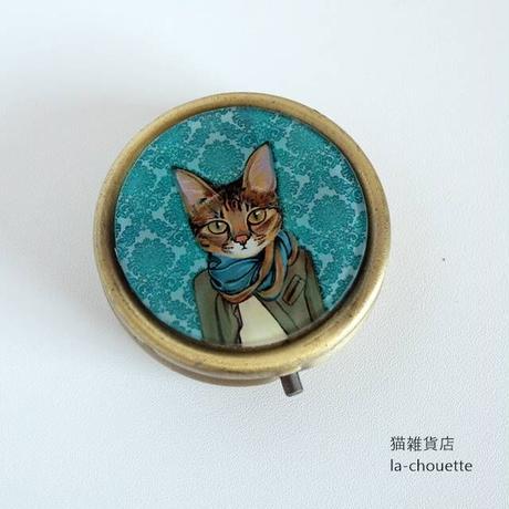 ピルケース・ストール猫(02-869)