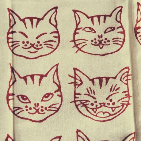 猫柄絵てぬぐい