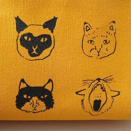 猫顔ペンケース