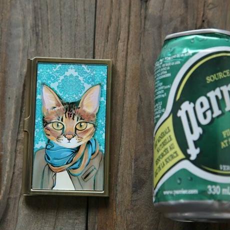 名刺カードケース・ストール猫(06-447)