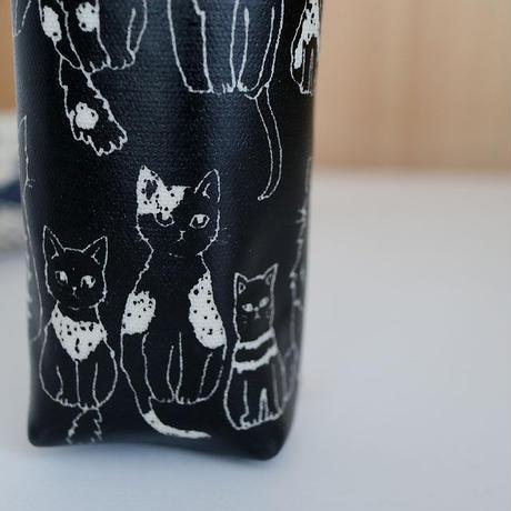 猫コーティング生地ペンケース