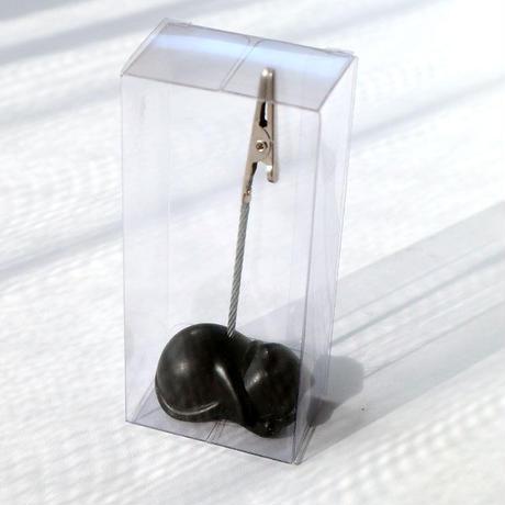 メモクリップ眠り黒ネコ(06-291)