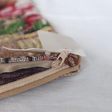 ジャガード織クッションカバー子猫帽子(04-116)