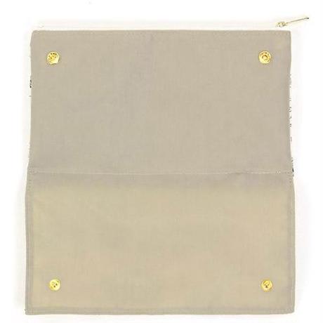 制菌加工裏地のマスクホルダー付きポーチ(05-009)