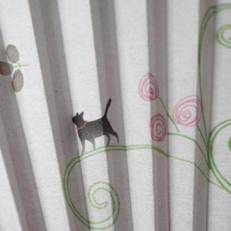 扇子・猫と花(02-060)