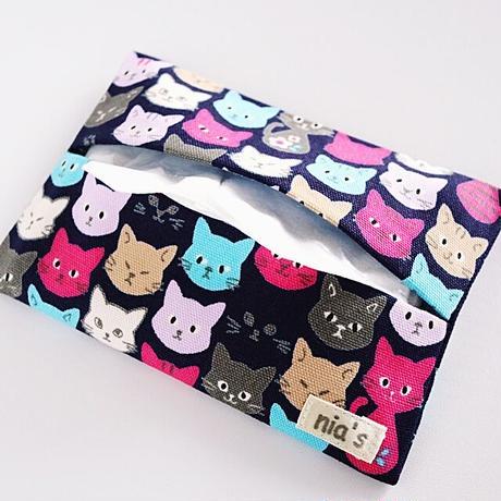 猫柄ポケットティッシュケース