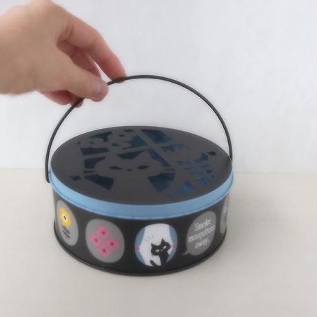 蚊遣り缶・猫フラワー(05-264)