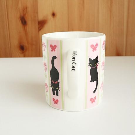 リボンキャットマグ・黒猫(03-182)