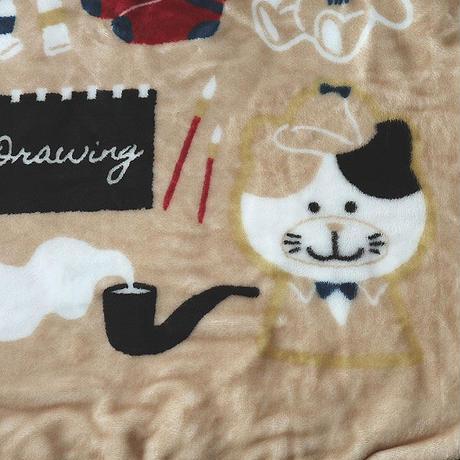 ネコのチャーミー・フリースブランケット