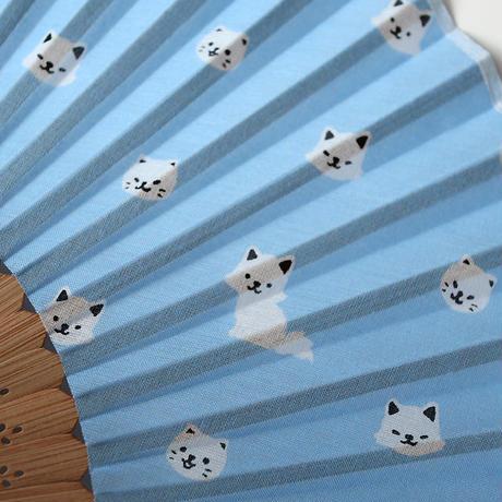 扇子・白猫(02-055)