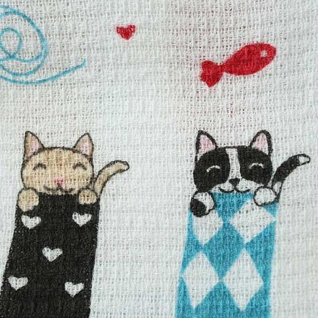 猫柄タオルてぬぐい・くつした(05-015)