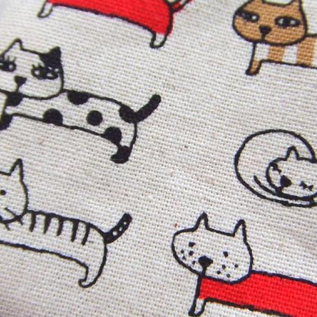 猫いっぱい・バネ口ペンケース(06-606)