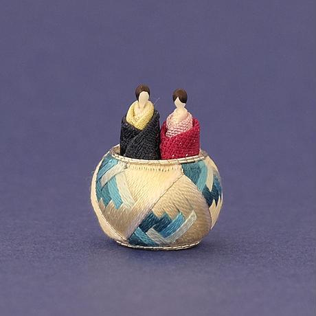 加賀てまり毬屋/Kaga-Temari Mariya「加賀ゆびぬき 小さなおひなさま」