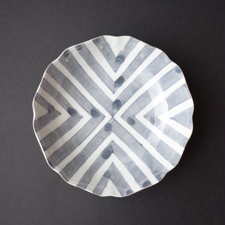 安齋新・厚子/ANZAI Arata & Atsuko「白磁染付けなます皿」